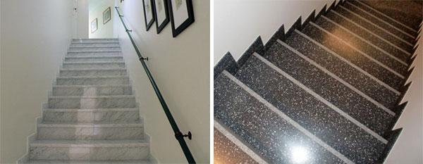 Pulido y vitrificado de escaleras